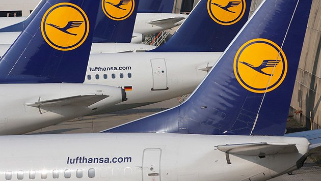 Lufthansa-Piloten streiken am Mittwoch (Bild: Associated Press)