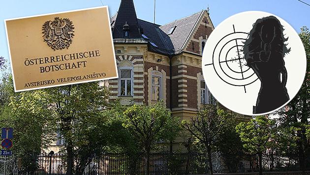 Österreicherin von Agent in Liebesfalle gelockt (Bild: Wikipedia/Yerpo, www.dnevnik.si, thinkstockphotos.de)