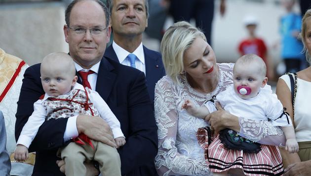 Jacques und Gabriella sind der ganze Stolz von Albert und Charlene. (Bild: Viennareport)