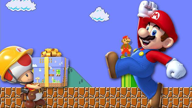 Super Mario ist kein Installateur mehr (Bild: Nintendo, krone.at-Grafik)