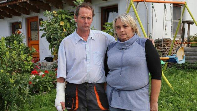 Johann Wallner mit seiner Frau Andrea (Bild: Marion Hörmandinger)