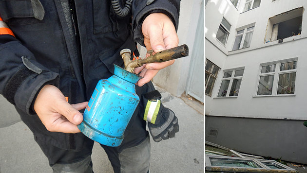 Wien: Verpuffung riss Fenster aus Fassade (Bild: MA 68 Lichtbildstelle)