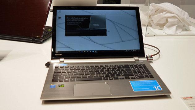 Satellite P50C: Neues Multimedia-Notebook, wahlweise mit AMD- oder Intel-Chip und dezidierter Grafik (Bild: Dominik Erlinger)