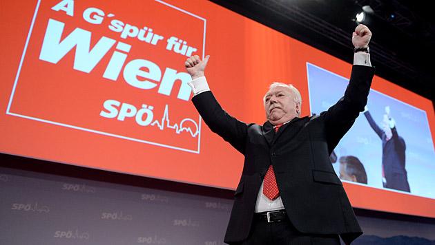 Häupl schwor SPÖ auf Match gegen FPÖ ein (Bild: APA/Roland Schlager)