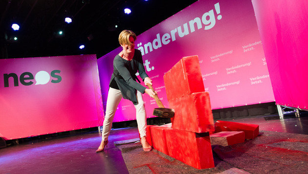 NEOS rechnen mit politischem System in Wien ab (Bild: APA/EXPA/ Michael Gruber)