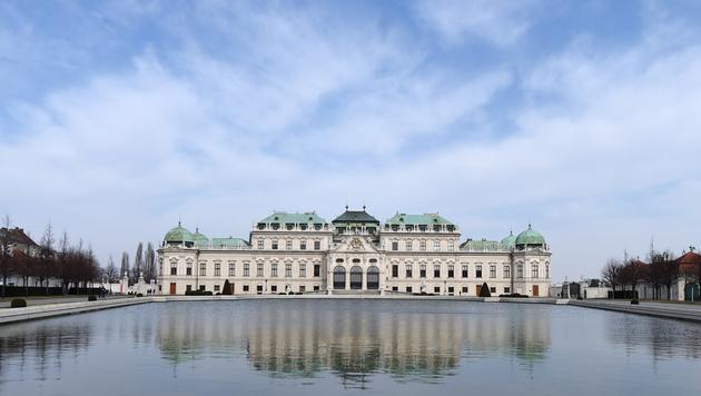 Im Schloss Belvedere soll die Traumhochzeit von Anna Netrebko und Yusif Eyvazov stattfinden. (Bild: APA/HELMUT FOHRINGER)