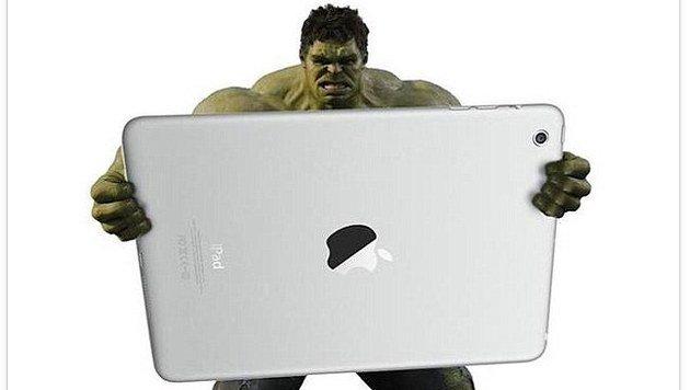 Hat schon ein iPad Pro: Der Hulk. (Bild: © Instagram/danworthingtondesign)