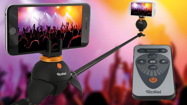 ePano Selfie: 360-Grad-Fotos mit dem Selfie-Stick (Bild: Rollei, krone.at-Grafik)