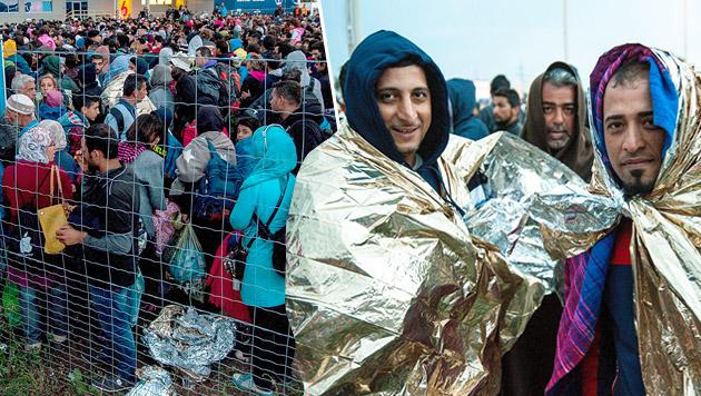 """Rotes Kreuz: """"Denken in Zehntausender-Schritten"""" (Bild: APA/EPA/CSABA KRIZSAN HUNGARY OUT)"""