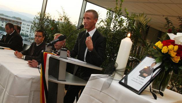 """Trauerfeier im Jahr 2008 (Bild: """"Krone"""")"""