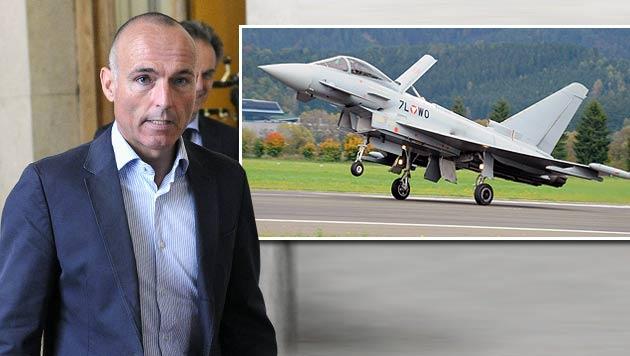"""Klug: """"Der Eurofighter ist ein sehr teures Gerät"""" (Bild: APA/HERBERT PFARRHOFER, APA/BUNDESHEER/PRIMISSER)"""