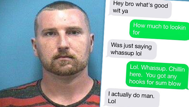 """Dealer schreibt SMS an Chef von Drogendezernat (Bild: Martin County Sheriff""""s Office)"""