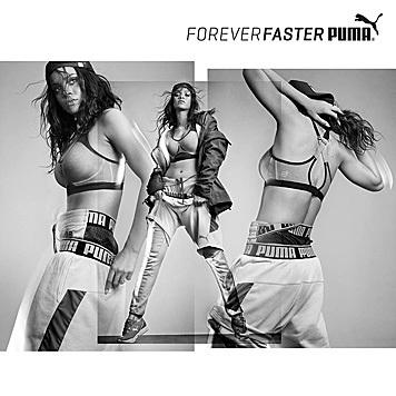 Gleichzeitig ist Rihanna auch in dieser Puma-Kampagne zu sehen. (Bild: Puma)