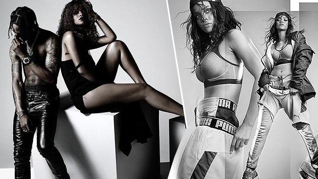 Rihanna für Puma als sexy Vamp und Sportskanone (Bild: Puma)