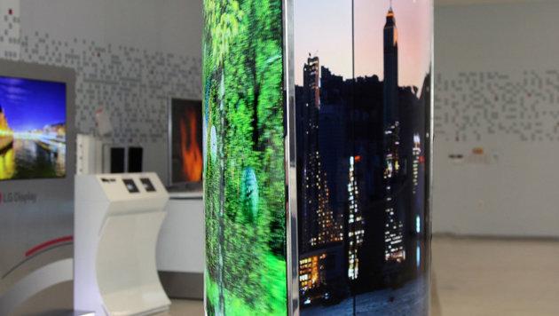 LG präsentiert ausrollbares OLED-Display und 8K-TV (Bild: LG)