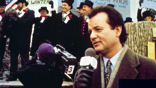 """Bill Murray in einer Szene des Films """"Und täglich grüßt das Murmeltier"""" (Bild: EPA)"""