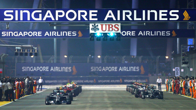Singapur: Formel-1-Fahrer werden oft bewusstlos (Bild: GEPA)