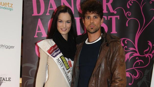 """""""Miss Austria"""" Anika Grill und ihr Freund Werner Achs (Bild: KRISTIAN BISSUTI)"""