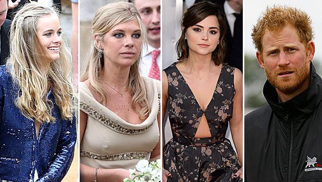 Drei Frauen sollen um die Gunst von Prinz Harry buhlen: Cressida Bonas, Chelsy Davy, Jenna Coleman. (Bild: AP, Viennareport)
