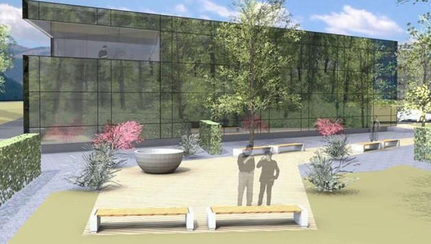 So sieht das neue Forschungs- und Entwicklungszentrum aus, das Maco an der Alpenstraße plant. (Bild: Maco)