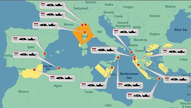 Die Grafik zeigt: Walstrandungen sind keine Seltenheit mehr. (Bild: OceanCare)