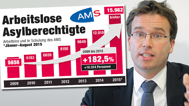 AMS drängt auf rasche Öffnung des Arbeitsmarktes (Bild: APA/GEORG HOCHMUTH, Krone-Grafik)