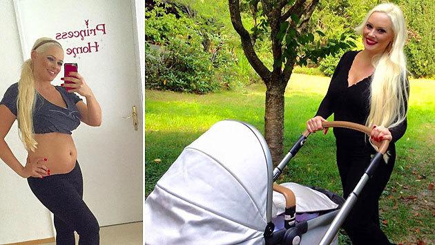Daniela Katzenberger vier Wochen nach der Geburt ihrer ersten Tochter. (Bild: Facebook.com)