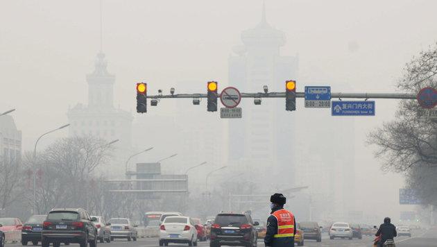 Smog über der chinesischen Hauptstadt Peking (Bild: APA/EPA/Jason Fan (Archiv))