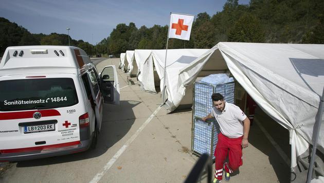 Auffanglager für Flüchtlinge in Spielfeld (Bild: APA/ERWIN SCHERIAU)