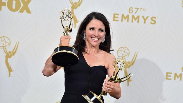 Julia Louis-Dreyfus und Jeffrey Tambor erhielten die Emmys als beste Komödiendarsteller. (Bild: Jordan Strauss/Invision/AP)