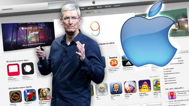 Apples App-Store erstmals Opfer von Hackerangriff (Bild: Apple, iTunes, APA/EPA/ JOHN G. MABANGLO)