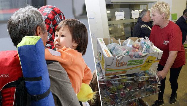 "Caritas: ""Refugees""-Menüs auch für Obdachlose (Bild: AP, APA/HANS PUNZ)"