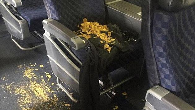 Bananenchips: zerkleinert, zerbröselt und verstreut (Bild: Instagram.com/michellerlayton)