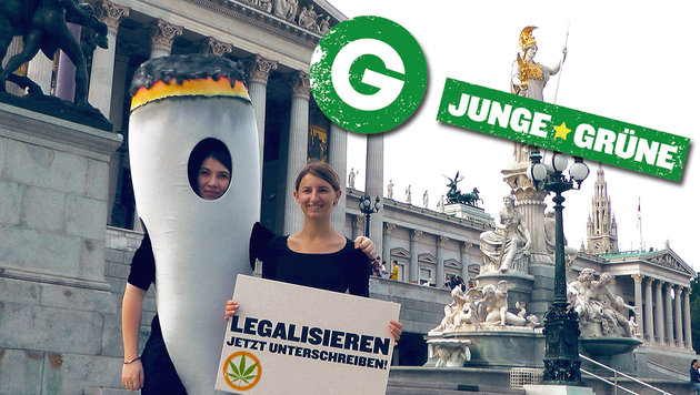 Junge Grüne gehen mit Hanfshop auf Stimmenfang (Bild: Junge Grüne)