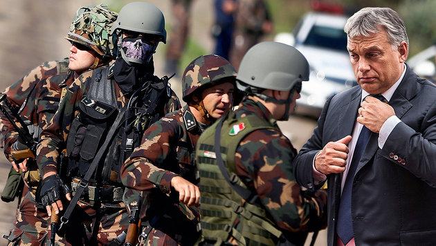 Ungarns Parlament gibt Armee Schießerlaubnis (Bild: AP, APA/EPA/FILIP SINGER)