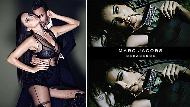 Sehr verführerisch! Adriana Lima mit Marc Jacobs und in der neuen Kampagne (Bild: Viennareport, instagram.com/adrianalima)