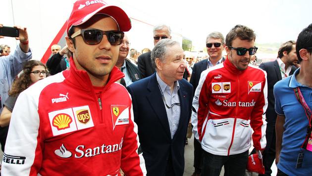 Felipe Massa (links) und Fernando Alonso (rechts) im Jahr 2013 (Bild: GEPA)