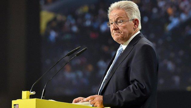 """Pühringer zur EU: """"Da muss der Blitz einschlagen"""" (Bild: APA/HARALD DOSTAL)"""