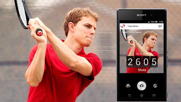 Spiel, Satz, Sieg! So gut ist Sonys Tennissensor (Bild: Sony)
