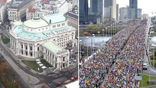 Vienna City Marathon: Die Burg als neues Ziel (Bild: Klemens Groh, APA/EPA/Herbert Neubauer)
