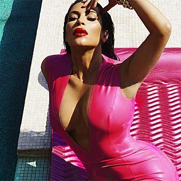 Kim Kardashian leidet sehr unter ihren überschüssigen Babykilos. (Bild: instagram.com/kimkardashian)