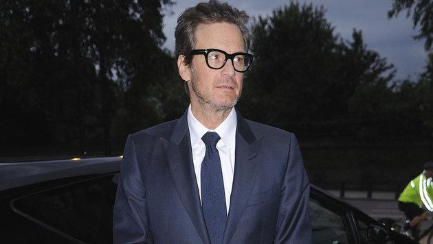 Colin Firth Mitte September: Der Star ist erschreckend dünn geworden. (Bild: Viennareport)