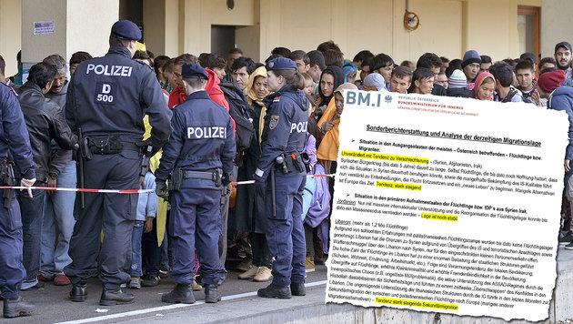 Fl�chtlinge: Geheimer Asylbericht sorgt f�r Wirbel (Bild: APA/HERBERT NEUBAUER, BMI)