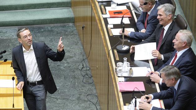 FPÖ-Generalsekretär Herbert Kickl während der Sondersitzung (Bild: APA/Robert Jäger)