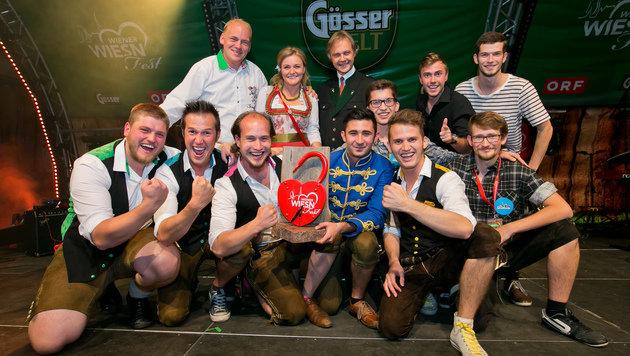 "Die Spritbuam gewinnen den ""Wiener Wiesn-Fest""-Musik-Award 2015. (Bild: Harald Klemm)"