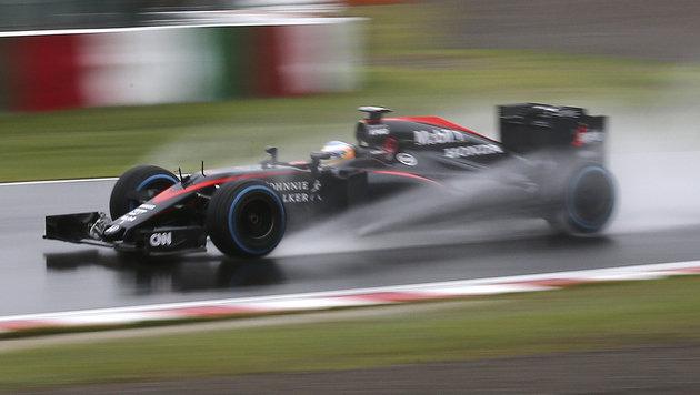 Fernando Alonso in seinem McLaren-Honda (Bild: AP)