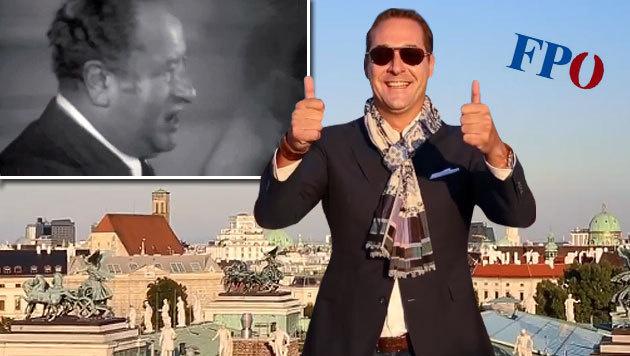 Heinz-Christian Strache rappt wieder einmal. (Bild: YouTube.com/FPÖ TV)