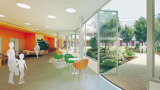 Heller Innenhof: Moderner Bau auf historischem Grund (Bild: KAV/Eva Kelety)