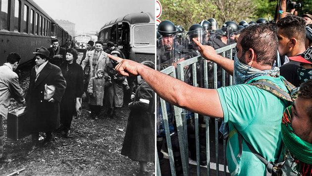 Hat Ungarn nichts aus seiner Geschichte gelernt? (Bild: UNHCR, APA/EPA/SANDOR UJVARI)