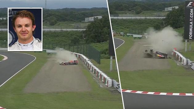 Pole für Rosberg in Suzuka ++ Unfall von Kwjat (Bild: AP, Formula1.com)